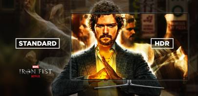 A simulation of SDR vs HDR output for Marvel's Iron Fist