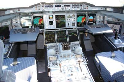 Airbus has leveraged what it's learnt in earlier generations of aircraft and made the A380's cockpit, displays, and ergonomics so similar to its predecessors that pilots can cross-qualify on different aircraft types and easily switch from one to another without costly retraining, all aided by the best display technology, type and symbology design
