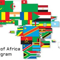 2001 Africa flag cartogram