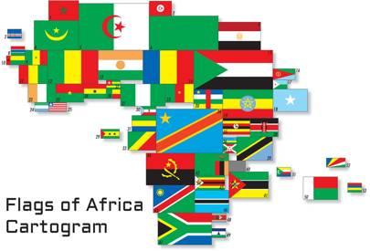 2001 Africa flag cartogram