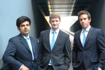 From left: BBOXX founders Mansoor Hamayun, Christopher Baker-Brian and Laurent Van Houcke