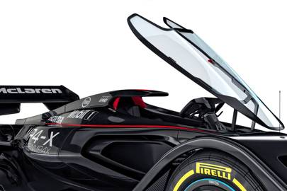 McLaren MP4-X: a concept car for the future of motor racing.