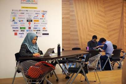 Cyberjaya's MaGIC startup hub took inspiration from Google and other western companies, introducing breakout rooms and decorating in bold, primary colours