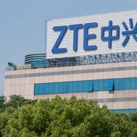 ZTE logo on a Shanghai office building