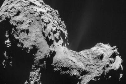 Comet 67P/Churyumov-Gerasimenko from 17.8 miles away