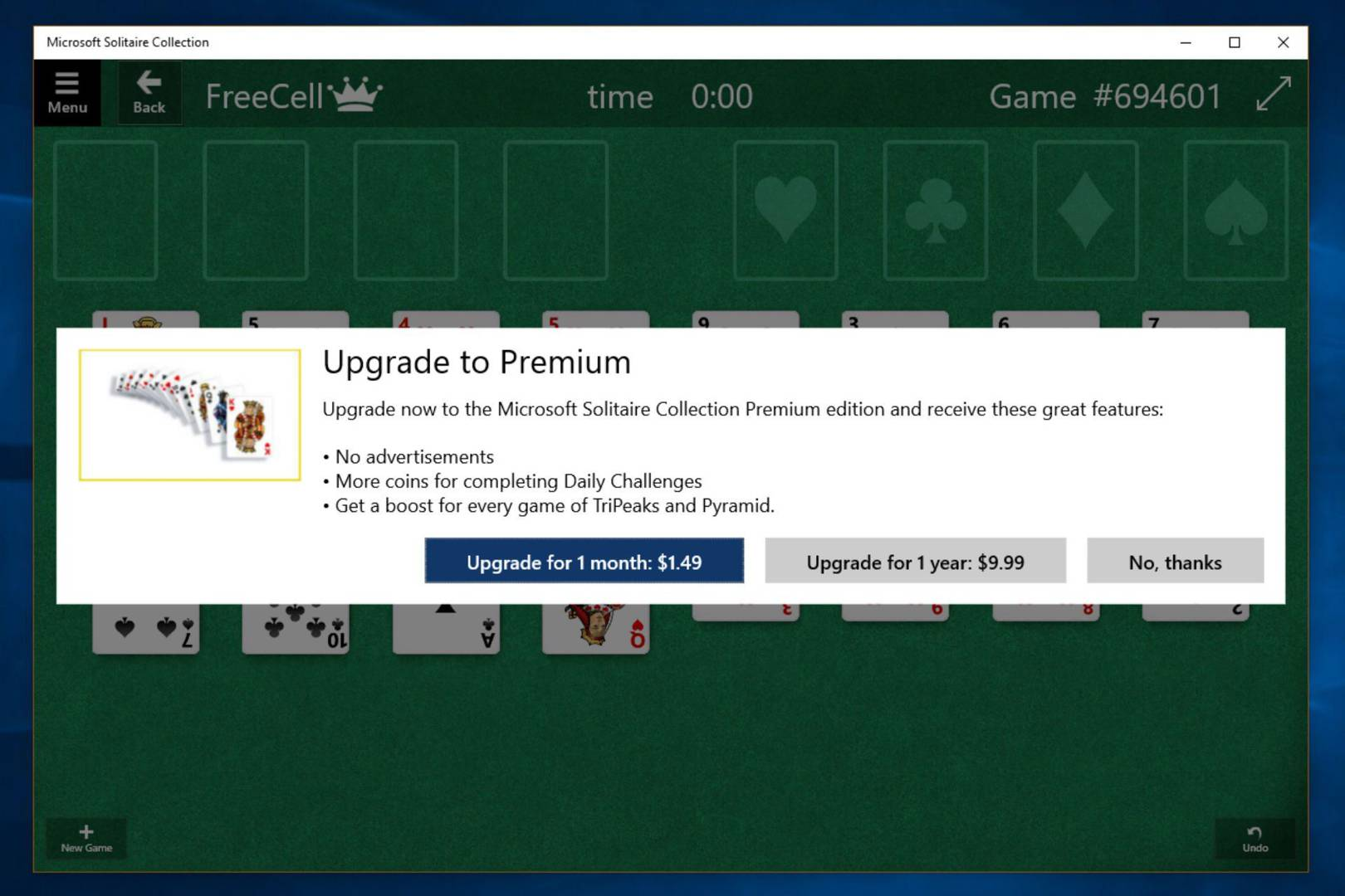 Windows 10 makes you pay to remove ads from Solitaire | WIRED UK