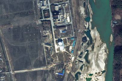 A satellite image of the Yongbyon nuclear complex in North Korea, collected on 29 March 2013