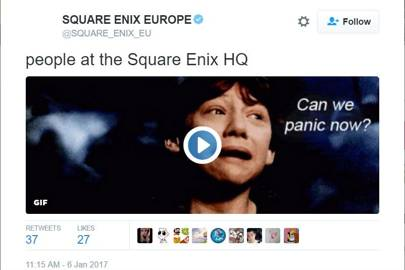 Square Enix Europe just got Twitter hacked