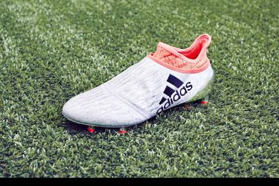 Primeknit prototype: the top of this laceless boot was digitally printed in one piece to fit the wearer and offer support where needed with firmer areas
