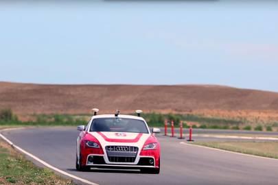 The self-driving autonomous Audi