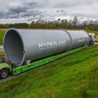 Hyperloop Transportation Technologies delivers tube sections to its R&D department in Toulouse