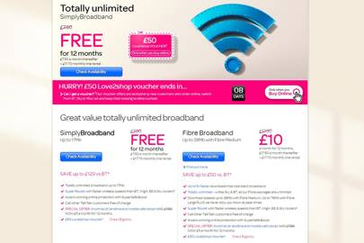 Confusing TalkTalk broadband pricing ads