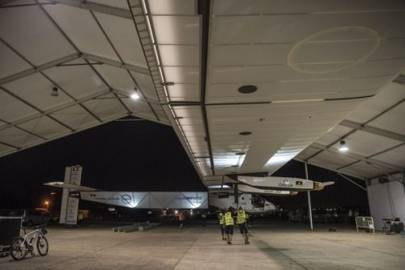 Solar Impulse in the hangar