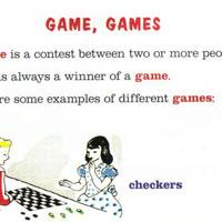 'Game', from My First Dictionary