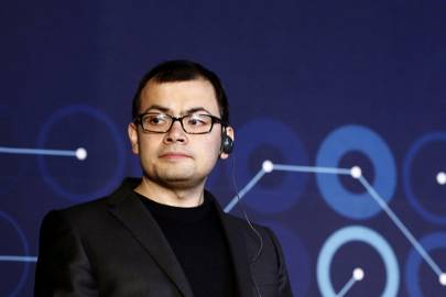 Demis Hassabis, co-founder of Google-owned DeepMind speaks during the company's AI challenge against Go world champion Lee Se-dol in Seoul, South Korea in March 2016