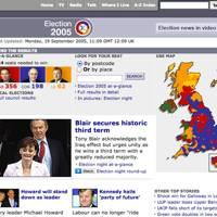 BBC 2005 general election microsite