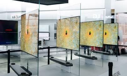 LG's 'blade-like' TV is as thin as four credit cards and hangs on the walls using just magnets
