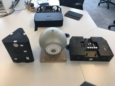 The Soundbox went through many different prototype designs at Devialet before the final version