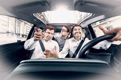 Left-right: BlaBlaCar cofounders Nicolas Brusson, Francis Nappez and Frédéric Mazzella in Paris
