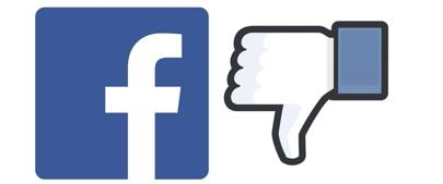 Facebook dislike icons