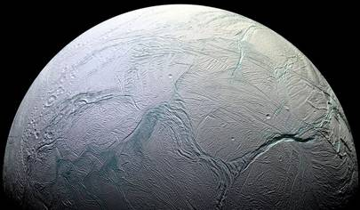 The tortured surface of Saturn's moon Enceladus