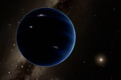 A necessarily blank artists' impression of Planet Nine