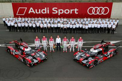 The team: Between them the current Audi factory drivers hold four world titles and ten Le Mans victories