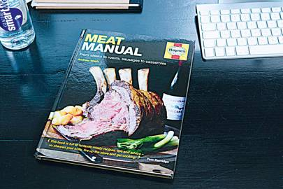 The Meat Manual on display at TheLADbible's Manchester office