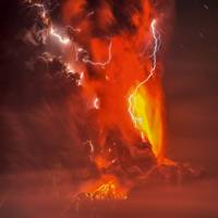 Volcanic lightning from Calbuco
