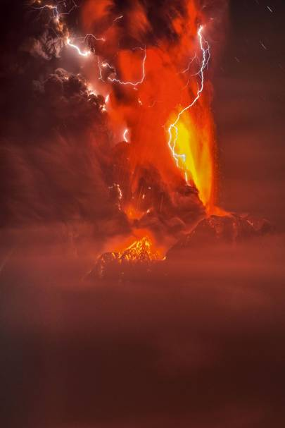 Volcanic lightning from Calbuco