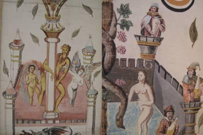Close-ups of George Ripley's scroll