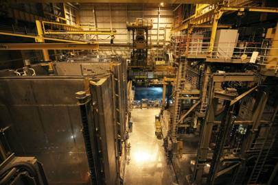 The cavernous Thorp facility reprocesses spent nuclear fuel from the UK and overseas
