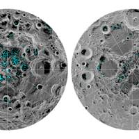 Distribution of water ice at the Moon's poles