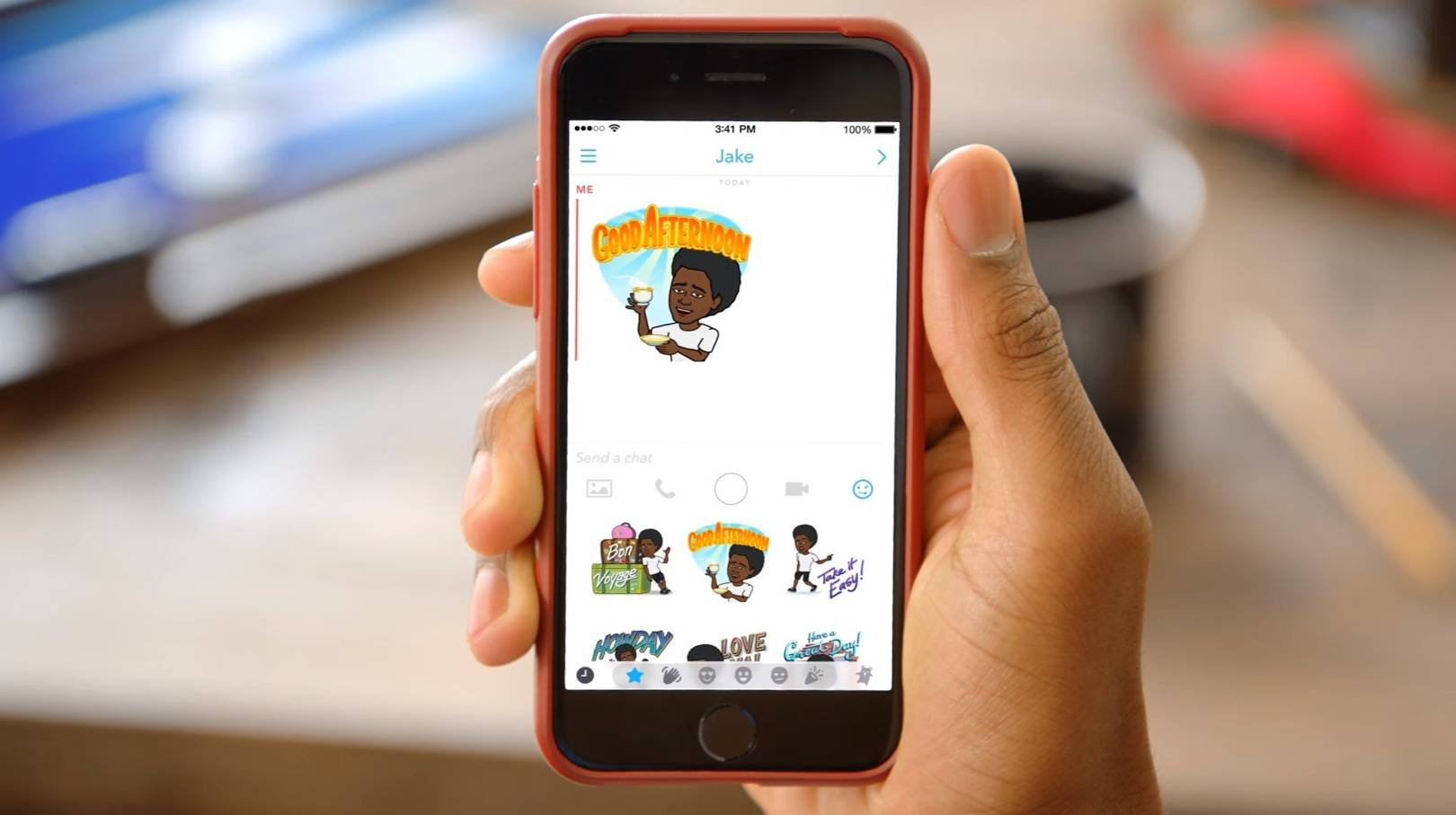 ef4dcc20be7 How to create personalised Bitmoji on Snapchat and use stickers on Snaps |  WIRED UK