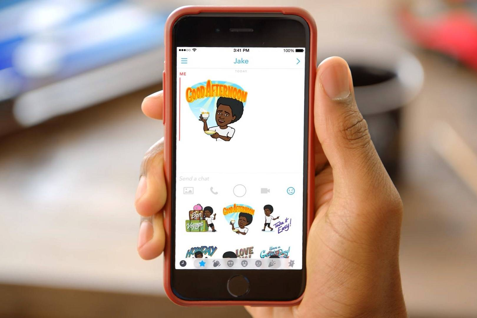 How To Create Personalised Bitmoji On Snapchat And Use Stickers On Snaps   Wired Uk