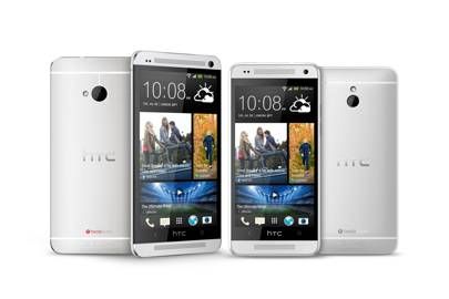 HTC One mini beside the HTC One