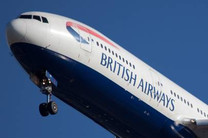 British Airways plane - passenger aircraft