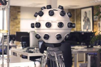 The Panopticam a 5kg spherical device covered in 36 cameras, which makes VR films a reality