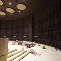 Orbi's theatre room during construction