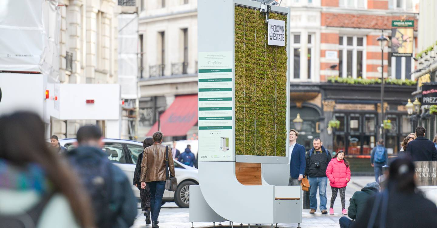 This London bench absorbs as much pollution as 275 trees
