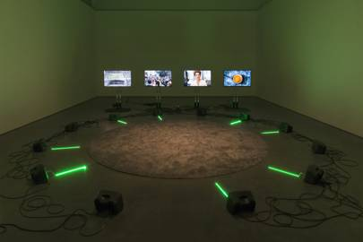 Haroon Mirza, ããã, 2016, Installation view from 'Entheogens' (2017), Contemporary Art Gallery, Vancouver, January 13 to March 19, 2017