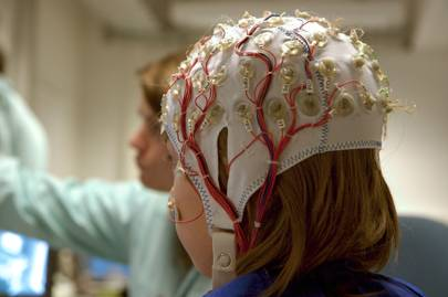 The participants' brain activity was measure using EEG technology and scalp sensors (stock image)