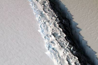 Enormous Iceberg Gearing Up To Break Off Antarctica's Larsen C Ice Shelf