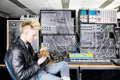 Zibra frontman Sam Battle in his east London studio