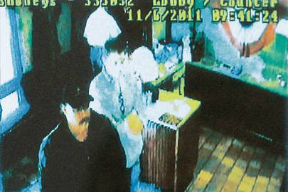 """Chaplain Rich"" shown with Brogan in a restaurant surveillance video, getting a bite before an attempted murder"