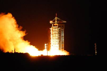 The world's first quantum satellite launched in China from the Jiuquan Satellite Launch Centre