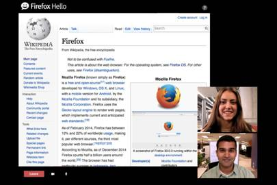 Firefox Hello to allow screen sharing on video calls