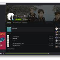 New Spotify desktop design