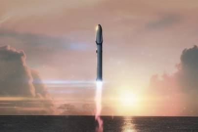 Artist's rendering of the Big Falcon Rocket