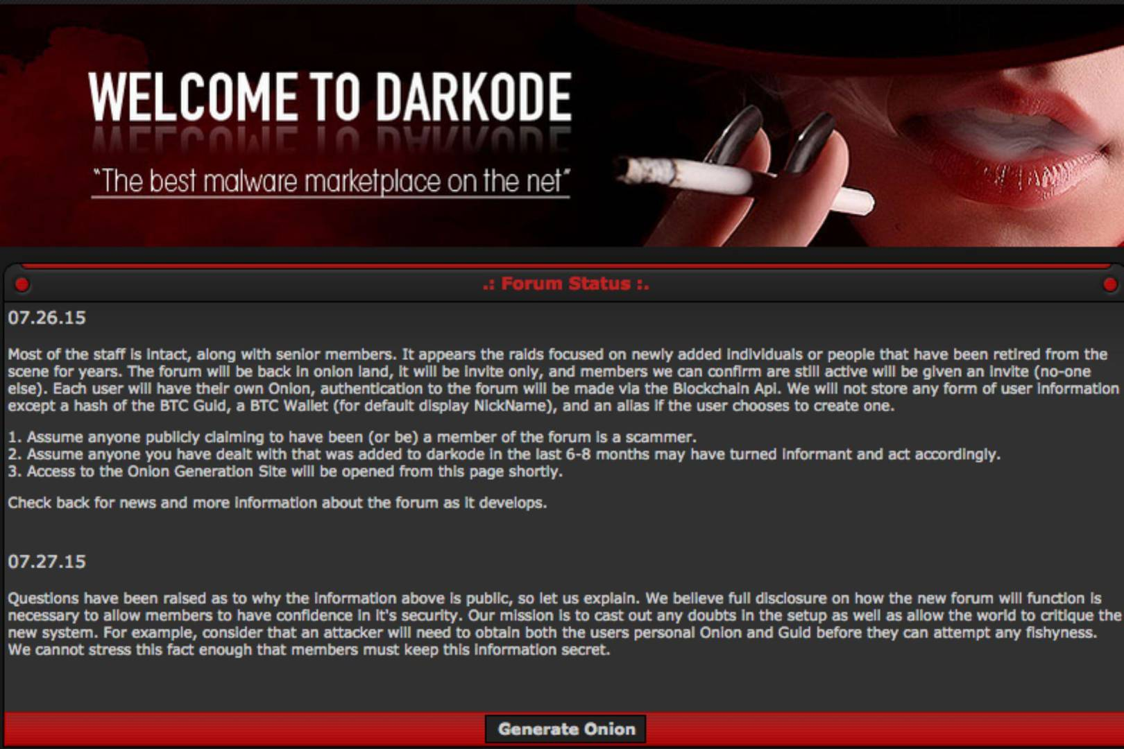 Hacker forum Darkode is back and more secure than ever | WIRED UK
